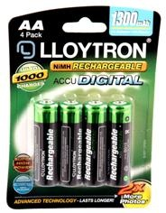 Rechargeable AA Batteries - 4 pack – Now Only £5.00