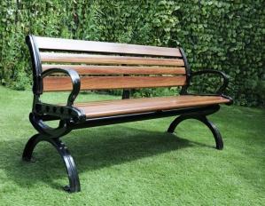 9 Slat Wood Effect Fibreglass Bench – Now Only £199.00