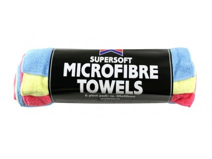Microfibre Towels - Pack Of 6  – Now Only £4.00
