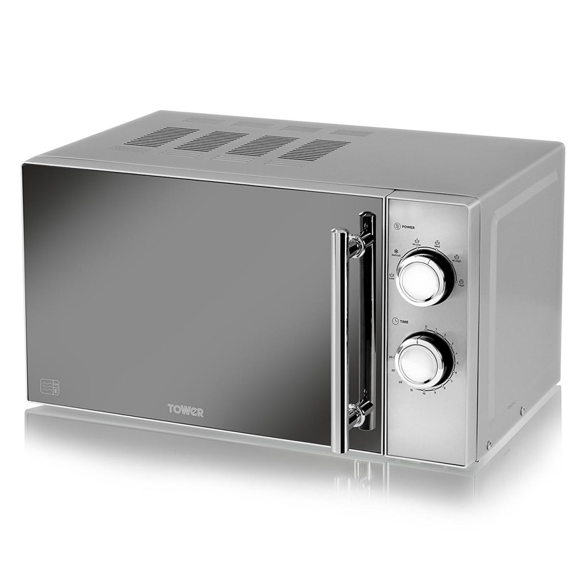 800W Microwave with Mirror Door - Silver – Now Only £69.00