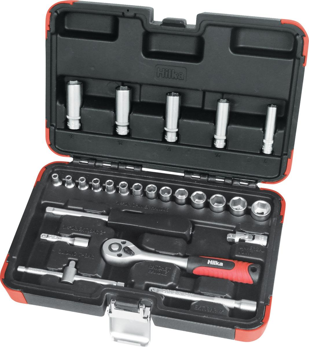 "25 piece 1/4"" Drive Socket Set Metric Pro Craft – Now Only £18.00"
