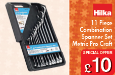 11 piece Combination Spanner Set Metric Pro Craft – Now Only £10.00