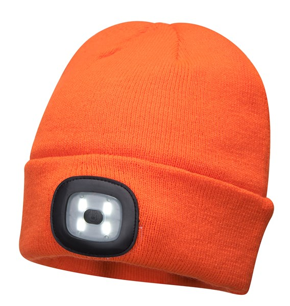 Beanie LED Head Light Hat - ORANGE – Now Only £8.00
