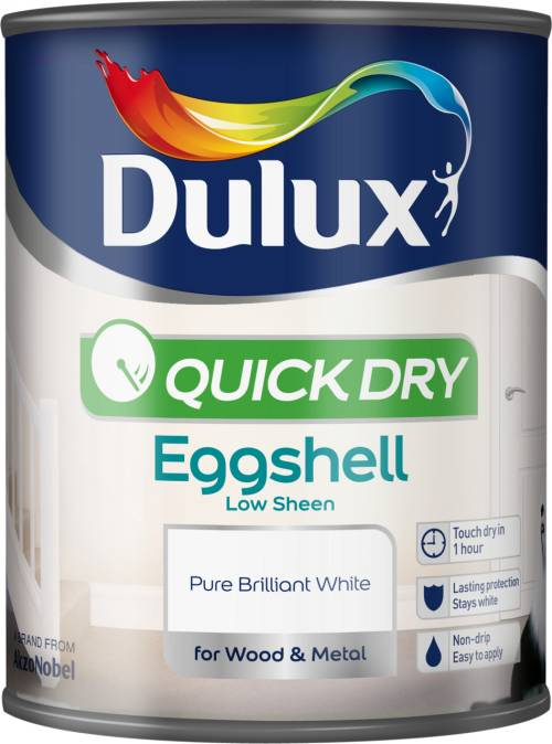 Quick Dry Eggshell 750ml Pure Brilliant White – Now Only £10.00