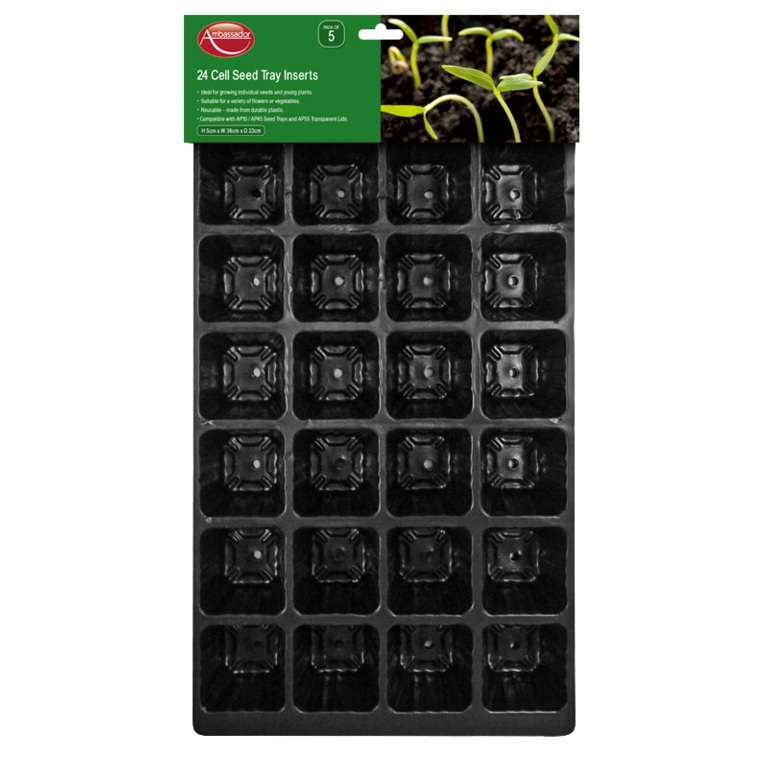 15 Cell Seed Tray Inserts - Pack of 5