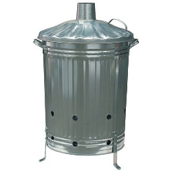 Galvanised Steel Incinerator - Large – Now Only £20.00