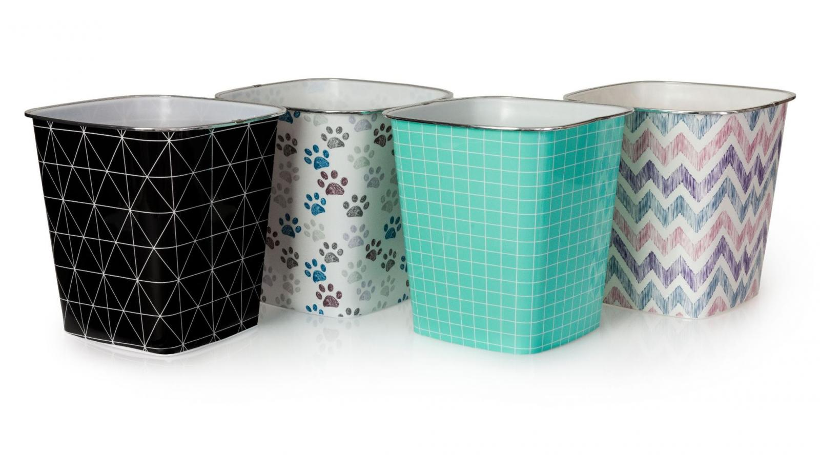 Plastic Square Bin - Assorted Patterns – Now Only £2.50