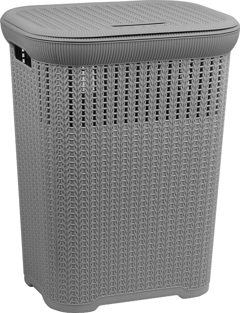 50 Litre Lace Laundry Hamper - Grey – Now Only £12.00