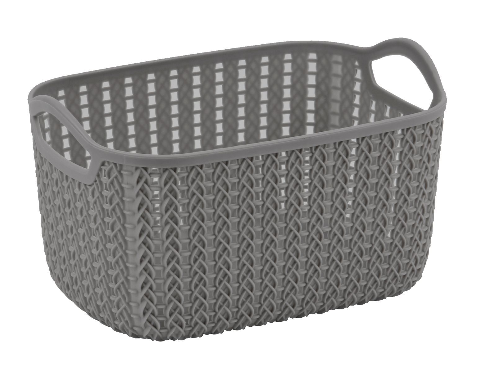 4 Litre Lace Storage Basket - Grey – Now Only £1.50
