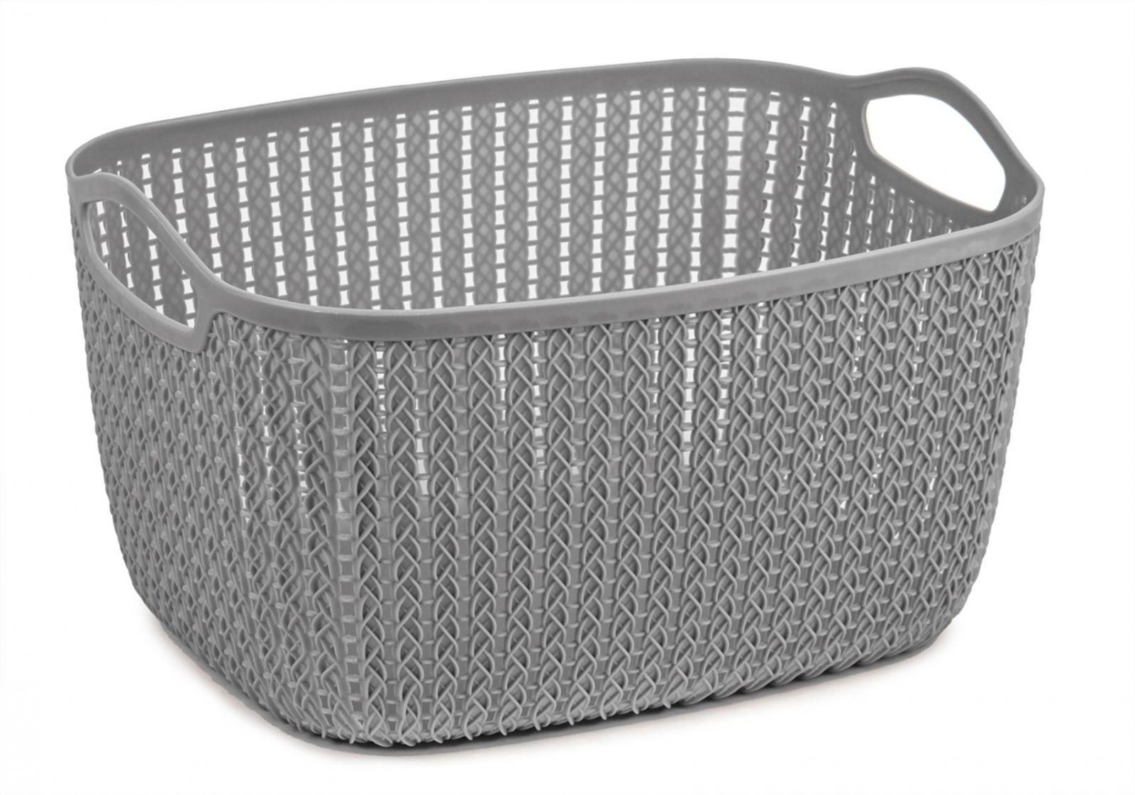 9 Litre Lace Storage Basket - Grey – Now Only £2.00
