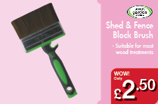 Shed & Fence Block Brush – Now Only £2.50