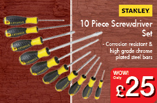 10 Piece Screwdriver Set – Now Only £25.00