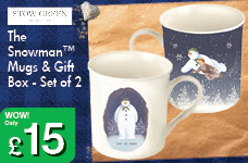 The Snowman™ Mugs & Gift Box - Set of 2 – Now Only £15.00